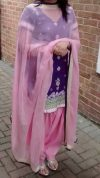 Salwar suit silk Rs 5600 Handwork