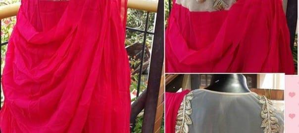Western Dress georgette HandWork Rs 6000