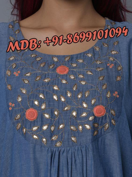 famous boutiques in punjab , neck designs