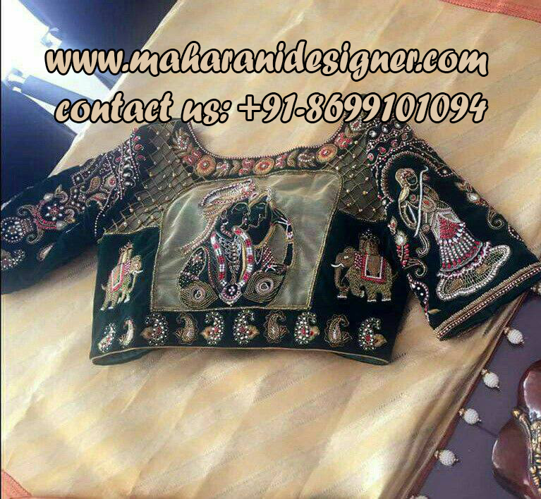 famous boutique in jandialan , neck designs of saree