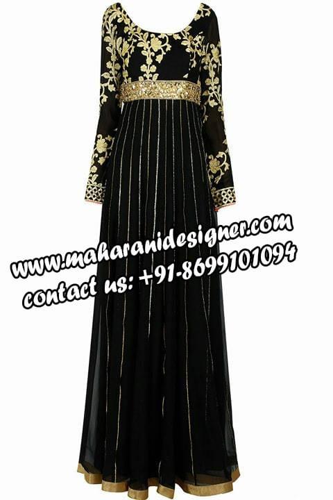 black gown , famous designer boutique in samrala