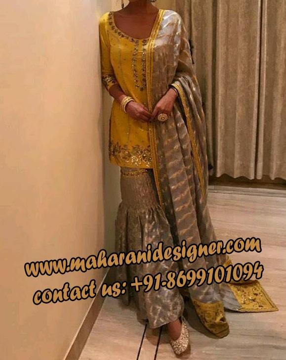 fashion designer boutiques in amritsar , SHARARA SUIT