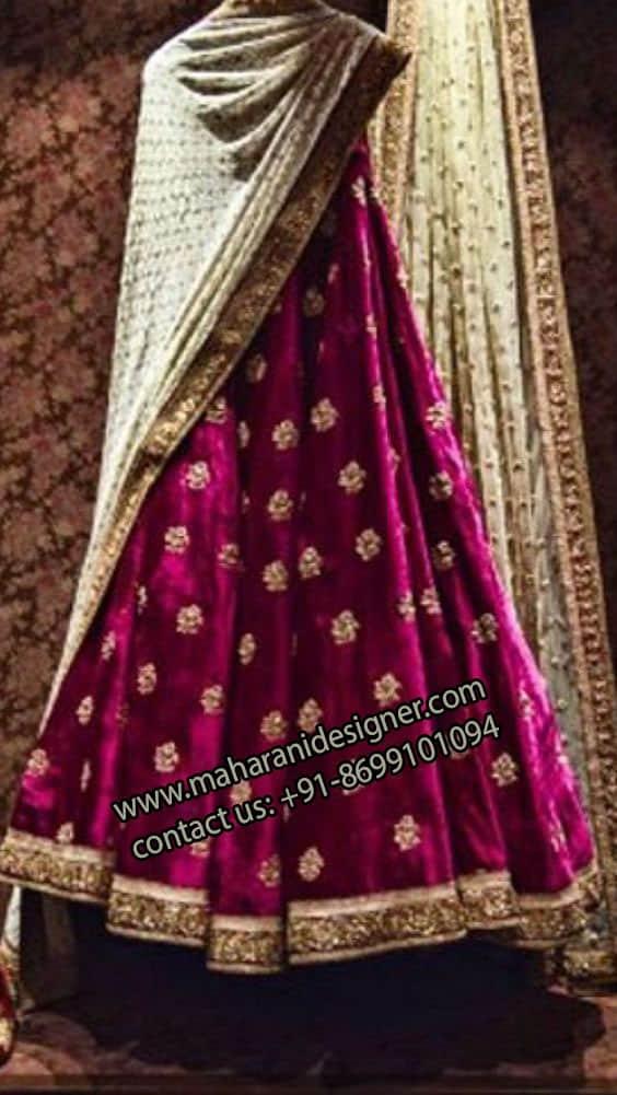 Designer Velvet Lehenga , Online Boutique In Amritsar