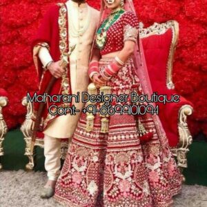 lehenga and sherwani combinations, lehenga and sherwani, lehenga and sherwani on rent, wedding lehenga and sherwani, bridal lehenga and sherwani, pink lehenga and sherwani, matching bridal lehenga and sherwani, matching lehenga and sherwani, red lehenga and sherwani, red lehenga and black sherwani, Maharani Designer Boutique