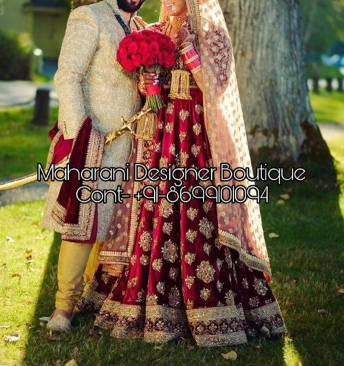 lehenga and sherwani combinations, lehenga and sherwani, lehenga and sherwani on rent, wedding lehenga and sherwani, bridal lehenga and sherwani, pink lehenga and sherwani, matching bridal lehenga and sherwani, matching lehenga and sherwani, red lehenga and sherwani, red lehenga and black sherwani, Maharani Designer Boutique