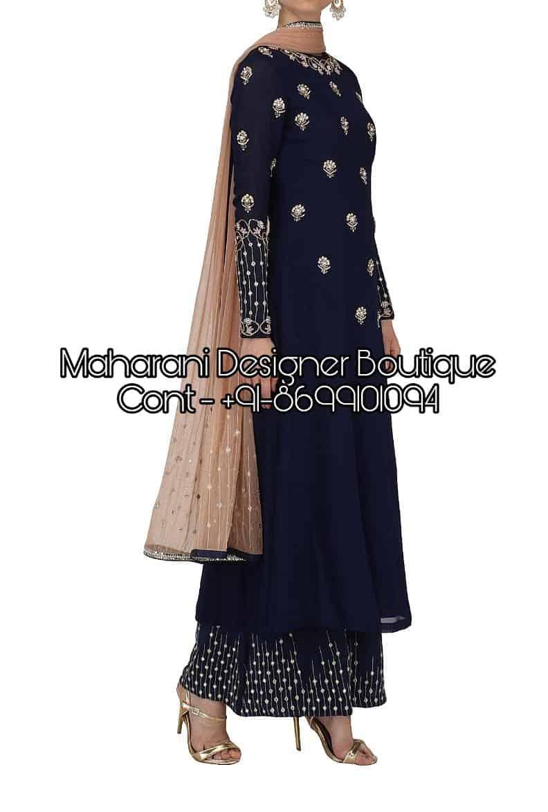 Simple Plazo Suit Designs | Maharani Designer Boutique