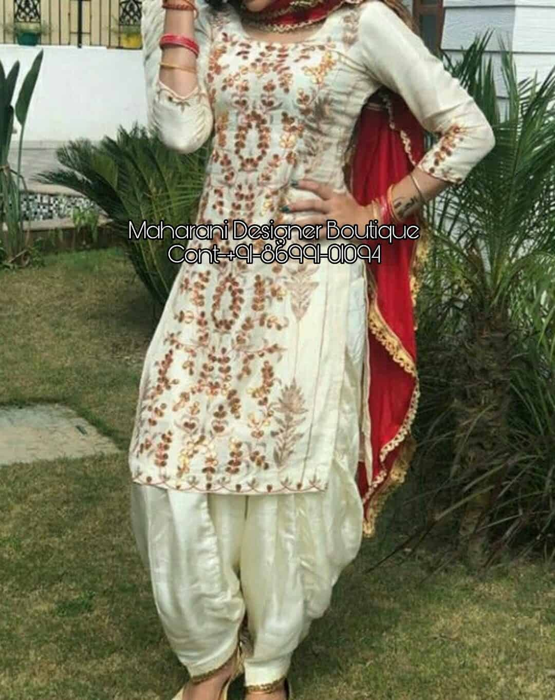 Neck Designs Salwar Kameez Lace Maharani Designer Boutique