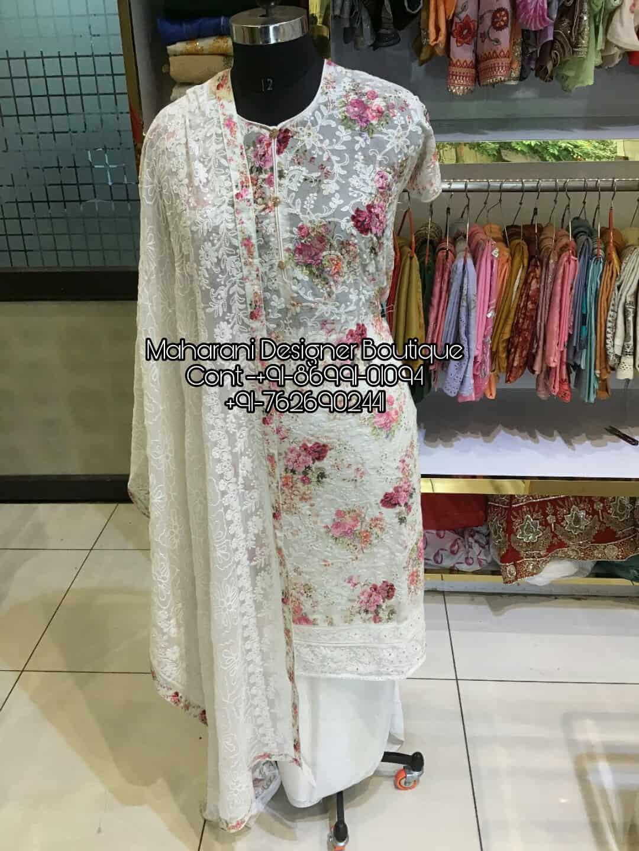 Designer Punjabi Suits With Laces Maharani Designer Boutique