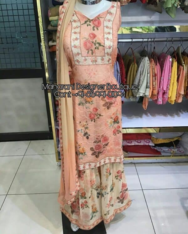 Latest Suits With Sharara, latest sharara suits designs, latest sharara suits online, latest punjabi sharara suits, latest ladies sharara suits, latest pakistani sharara suits, latest sharara suits images, latest sharara suit pics, latest sharara suit with price, latest suits with sharara, Maharani Designer Boutique