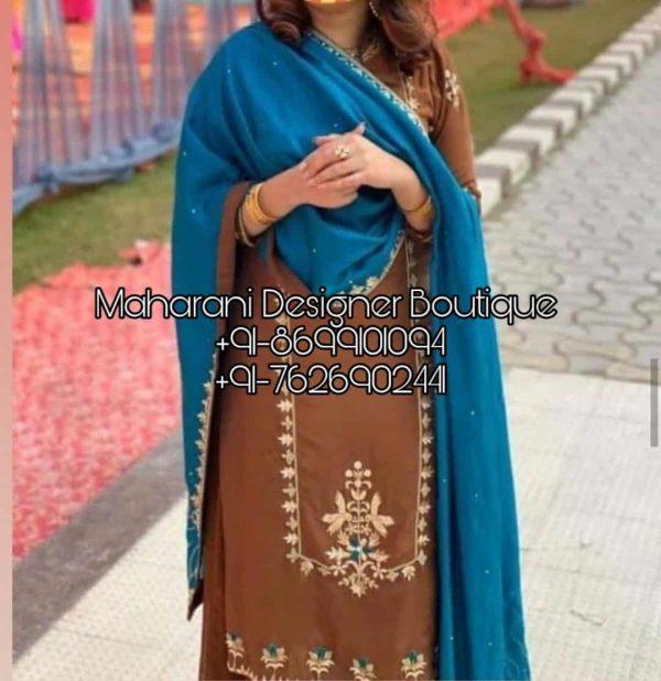 Buy Punjabi Suits Boutique In Ludhiana, Maharani Designer Boutique to get best Punjabi suit collection. Find the latest designs of Punjabi suits.