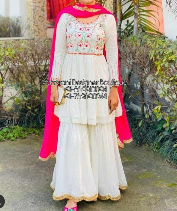 Shop latest Boutiques Punjabi Suits online at Maharani Designer Boutique. Get perfectly customized cotton Punjabi/Patiala salwar kameez at affordable prices. Boutiques Punjabi Suits, Maharani Designer Boutique, Pakistani Sharara Suit Online, Sharara Style Suits, sharara suits, sharara suits pakistani,boutique sharara suits, punjabi boutique sharara suits, boutique style sharara suits, sharara suits online, sharara suits online shopping, sharara suits buy online india, online, shopping for sharara suits,sharara suit set online, sharara suit designs online, Sharara Suit With Short Kurti, Maharani Designer Boutique