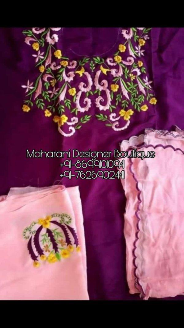 Buy latest collection of Punjabi Suits Boutique Jalandhar , Maharani Designer Boutique Punjabi Dresses & Punjabi Suit Designs Online in India at best price .