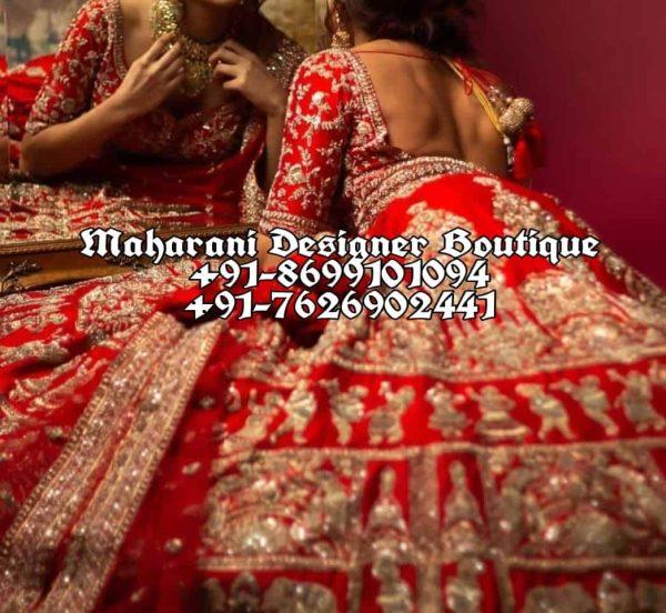 Designer Bridal Lehenga Red