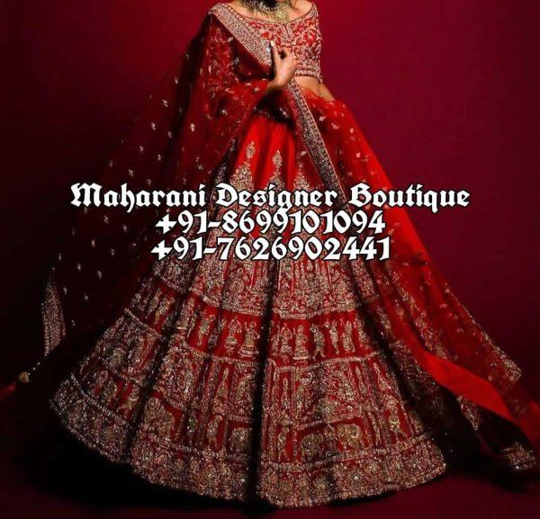 Traditional Red Bridal Lehenga