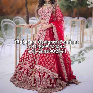 Buy Red Bridal Lehnegas