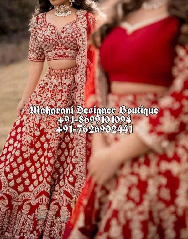 Buy Red Bridal Lehengas UK USA